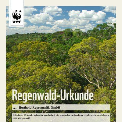 WWF-Urkunde_Regenwald