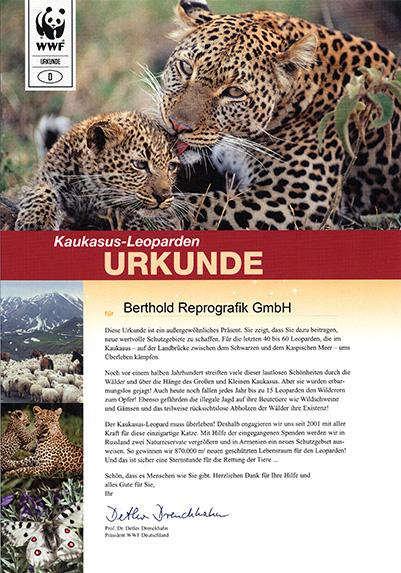 Leoparden Urkunde