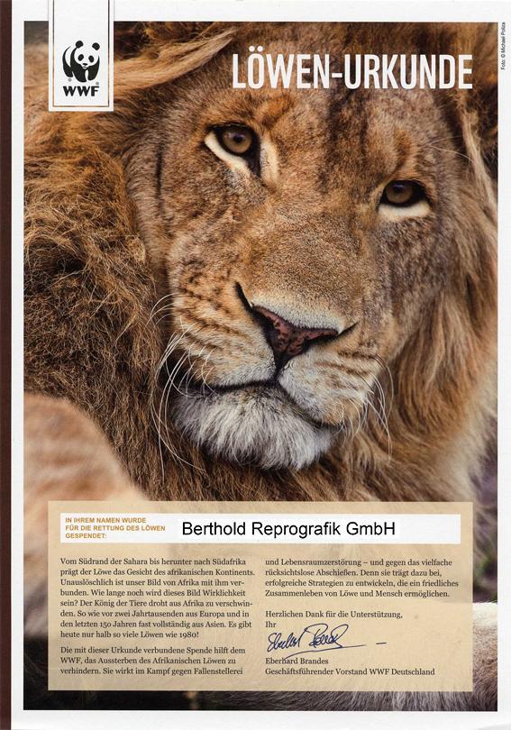Löwen Urkunde